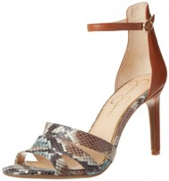 Jessica Simpson Women's Maselli Dress Sandal,Earth/Multi/Light Luggage/Stamped Snake,9.5 M US