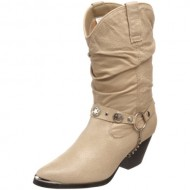 Dingo Women's Olivia Slouch Boot,Tan,8.5 W US