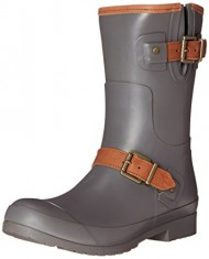 Sperry Top-Sider Women's Walker Fog Rain Boot, Charcoal, 8 M US