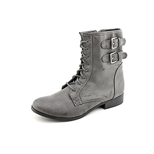 Style & Co Ricky Womens Size 9.5 Gray Faux Leather Fashion Ankle Boots