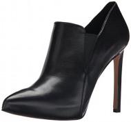 Nine West Women's Leandra Leather Boot, Black/Black, 5.5 M US