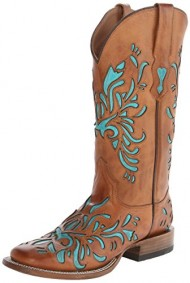 Stetson Women's 13 Inch Burnished Saddle Underlay Riding Boot, Brown, 9 B US