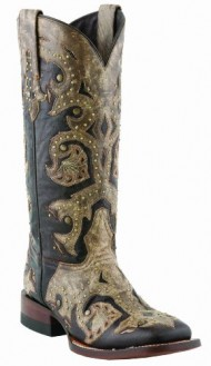 Lucchese Women's Handcrafted 1883 Oklahoma Cowgirl Boot Square Toe Tobacco US