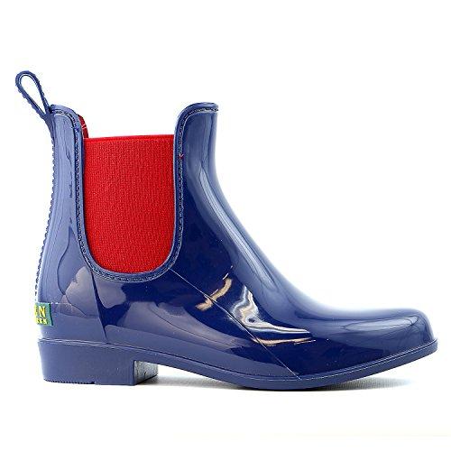 Lauren Ralph Lauren Women's Tally Rain Booties Boots Shoes Blue Sz 10