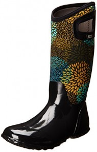 Bogs Women's North Hampton Floral Rain Boot,Black Multi,7 M US