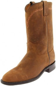 Justin Boots Women's U.S.A. Domestic Roper 10″ Boot Roper Toe Leather Outsole,Bay Apache,6.5 B US