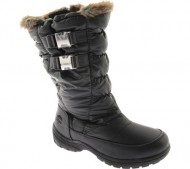 """Women's Totes Snow Boots """"Bunny"""" (9, Black)"""
