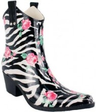Nomad Women's Yippy Low Rain Boot,Rose Zebra,10 M US