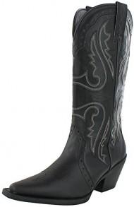 Nomad Trigger Women's Western Cowboy Boots Black Size 6