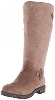 Naturalizer Women's Tanita Wide Calf Riding Boot, Taupe, 9.5 W US