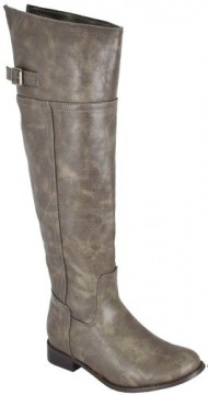 Breckelle Rider-82 Taupe Women Riding Boots, 6 M US