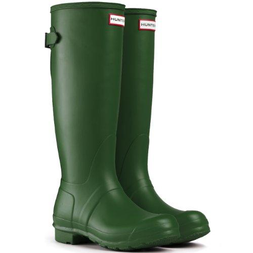 Women's Hunter Boots Original Adjustable Back Snow Rain Water Boots Unisex – Green – 8