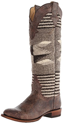 Stetson Women's Serape Round Toe Boot Brown Boot 8.5 B – Medium