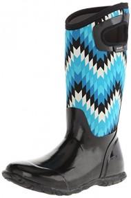 Bogs Women's North Hampton Waterproof Boot, Black/Multi, 7 M US