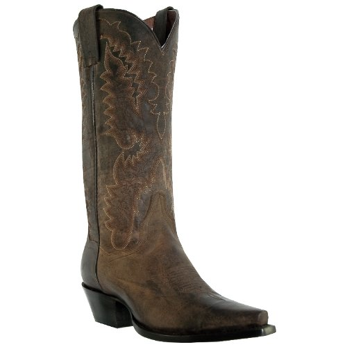Dan Post Women's Dirty Bull Cowgirl Boot Snip Toe Bay Brown 8 W US