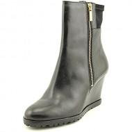 Michael Michael Kors Aileen Wedge Womens Size 6 Black Leather