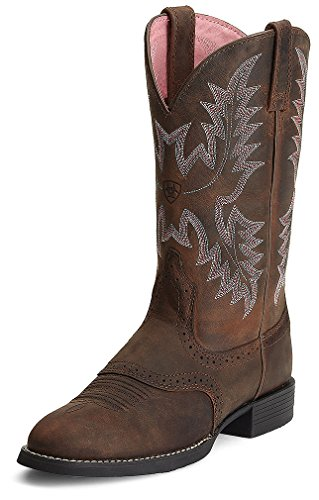Ariat Women's Heritage Stockman Saddle Vamp Cowgirl Boot Round Toe Driftwood 7 1/2 C US