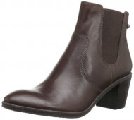 AK Anne Klein Women's Bunty Leather Chelsea Boot,Dark Brown,10 M US