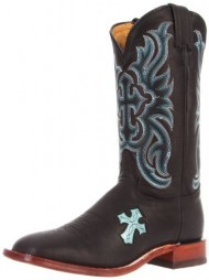Tony Lama Women's Buck TC1004l Boot,Black,7.5 B US