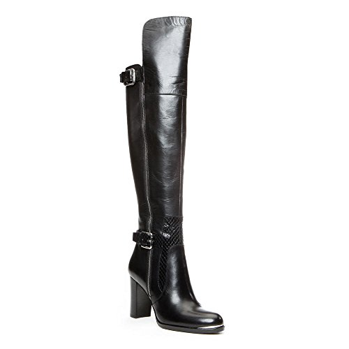 Donald J Pliner Women's Quinto Over-the-Knee Boot,Black Baby Calf,9 M US