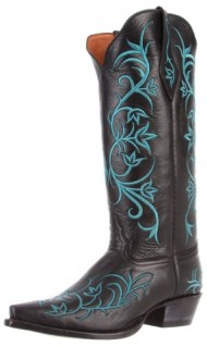 Tony Lama Women's 1016l Boot,Black Signature Calf,5 B US