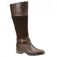 Franco Sarto Women's Corda Oxford Brown Leather/Suede 8.5 M US