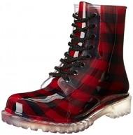 Dirty Laundry Women's Roadie Plaid Rain Boot,Red,9 M US
