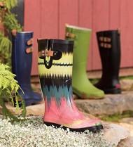 Chooka Women's Top Solid Tall Rain Boot,Green,7 M US
