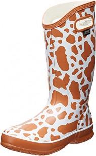 Bogs Women's Animal Print Rain Boot,Cow White Multi,8 M US
