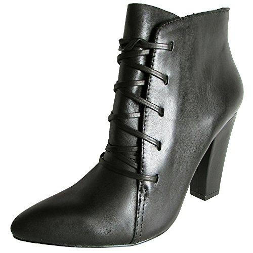 Steve Madden Women's Jillinna Boot, Black Leather, 9.5 M US