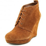 Jessica Simpson Catcher Wedge Booties (8.5 B(M) US, Bourbon Suede)
