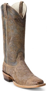 Ariat Women's Catalina Crackle Cowgirl Boot Square Toe Sand US