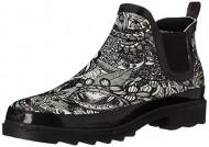 The SAK Women's Rhyme Rain Boot, Black/Amp/White Spirit Desert, 11 M US