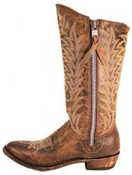 Old Gringo Razz Brown Zip Distressed Boots – L340-2 – 8 – M