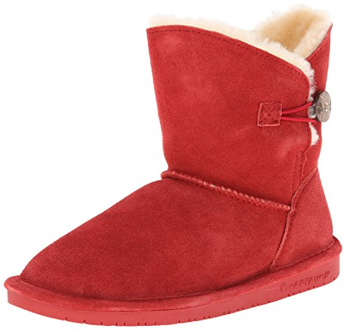 BEARPAW Women's Rosie Snow Boot,Cranberry,10 M US