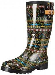Chooka Women's Mystic Tribal Rain Boot, Black, 9 M US