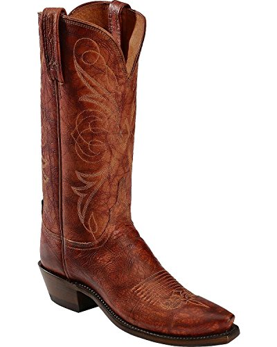 Lucchese Women's Handcrafted 1883 Cognac Arizona Calf Cowgirl Boot Snip Toe Cognac US