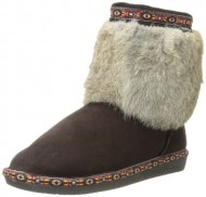 BEARPAW Women's Suni Boot,Chocolate,9 M US