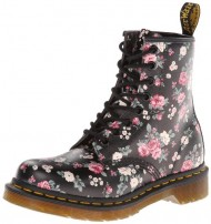 Dr. Martens Women's 1460 W Chukka Boot,Black Vintage Rose Softy,8 UK/Women's 10 M US