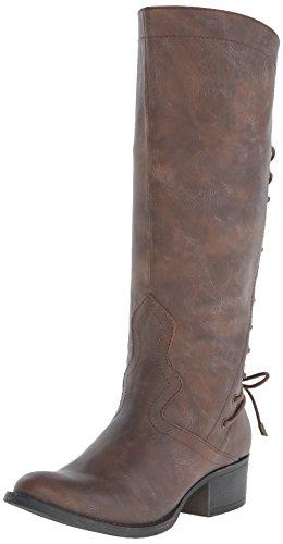 Madden Girl Women S Cactuss Boots: Madden Girl Women's Derail Engineer Boot, Cognac Paris, 8