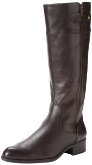 Easy Spirit Women's Dembra Riding Boot,Dark Brown,8 W US