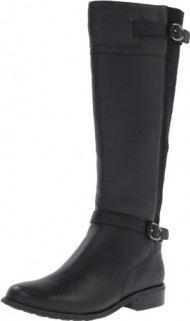 Aetrex Women's Chelsea Tall Riding Boot, Black, 6 B US