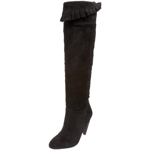 BCBGeneration Women's Sanji Boot,Black Suede Crosta,6 M US