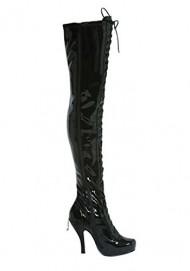 Penthouse Women's Ava Thigh High Boot,Black Patent,6 M US