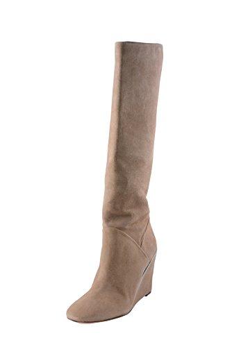 Diane von Furstenberg Women's Paula Chelsea Boot,Honey Wheat/Natural Calf Suede,9.5 M US