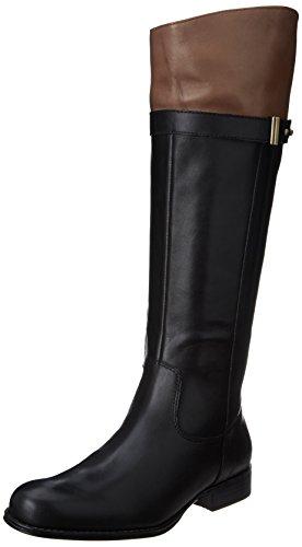 Naturalizer Women's Josette Riding Boot,Black/Brown,8.5 W US