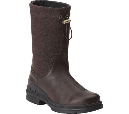 Ariat Women's Ladies Barnyard Belle Waterproof Pull-On Work Boot Round Toe Dark Brn US