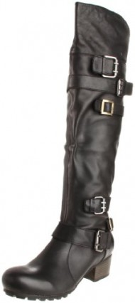 Bacio61 Women's Profondo Motorcycle Boot,Black,7.5 M US