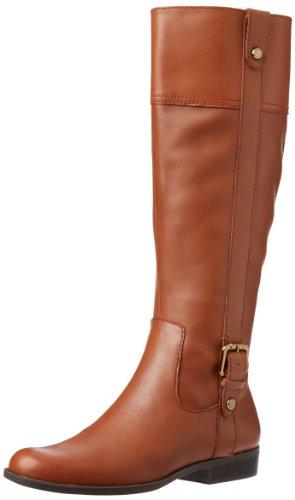 AK Anne Klein Women's Cijiw Riding Boot,Cognac Leather,5 M US