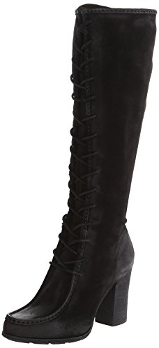 FRYE Women's Parker Moc Tall Riding Boot, Black, 7 M US